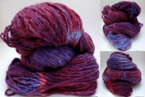 Reclaimed Hand Dyed Angora Blend