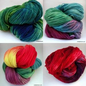 Hand Dyed Superwash Sock Yarn