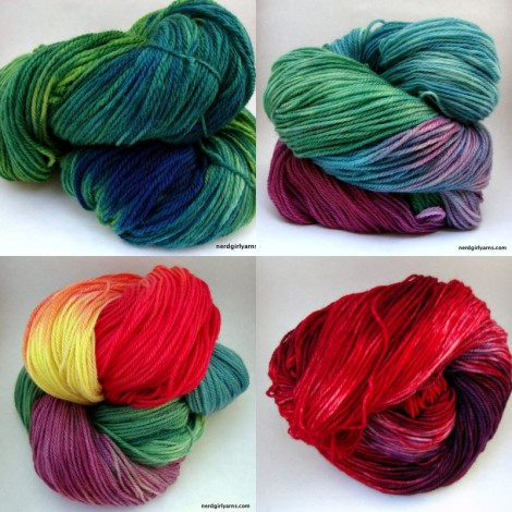 Hand Dyed Superwash Sock Yarn
