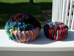 Scrappy Knit Pin Cushions