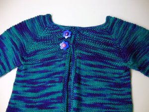 Baby Sock Yarn Sweater Yoke