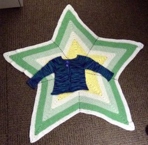 Baby Star Blanket with Sweater