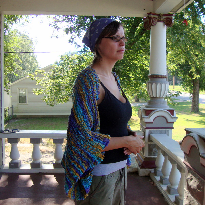 Easy Rectangle Garter Shrug – Free Pattern | Nerd Girl Yarns