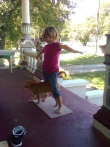 Larry doing yoga