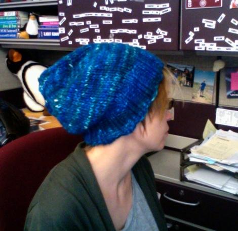Bulky yarn hat