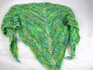 Peacock on Pwnie tencel blend yarn