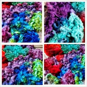 Dyeing the fleece
