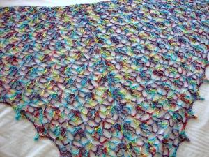 lolwut on Swanky as a crochet Elise Shawl
