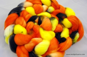 Nerd Girl Yarns Jack o'Lantern on Combed Top
